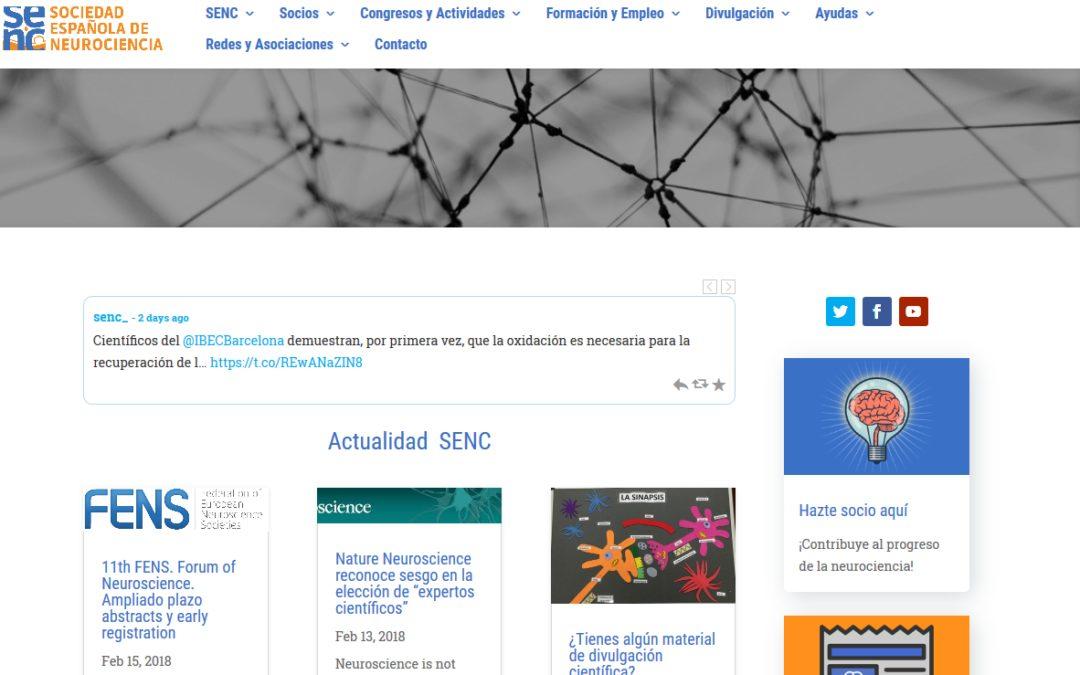 La SENC estrena página web y Secretaría Técnica