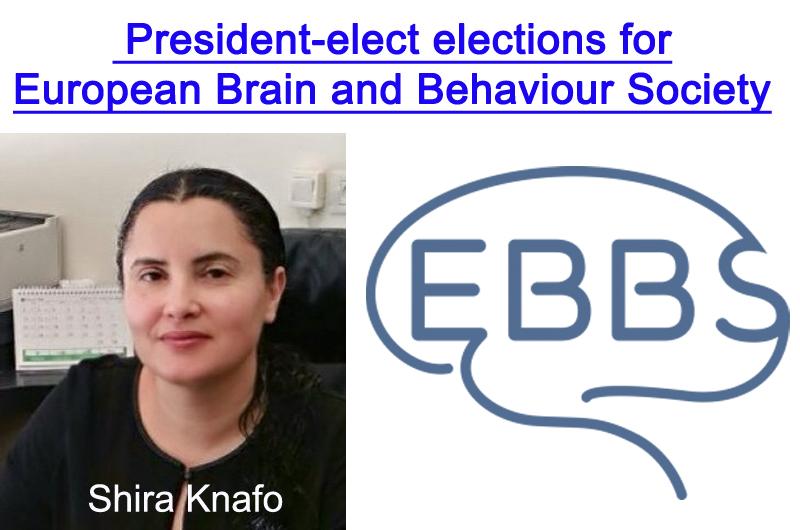 Shira Knafo candidata a la presidencia de la European Brain and Behavior Society