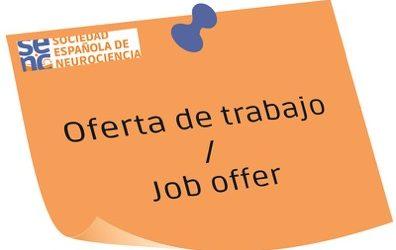 Oferta de Contrato Postdoctoral