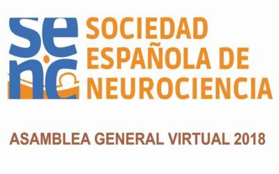 Asamblea General Virtual de la SENC, 25-31 Octubre 2018
