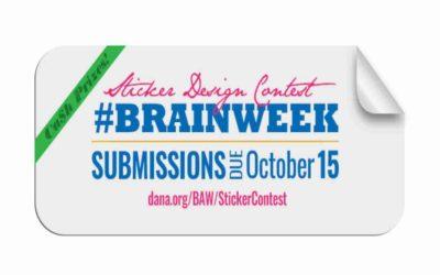 Brain Awareness week sticker design contest launched