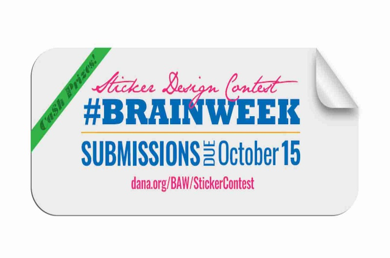 Brain Awareness week sticker design contest launched