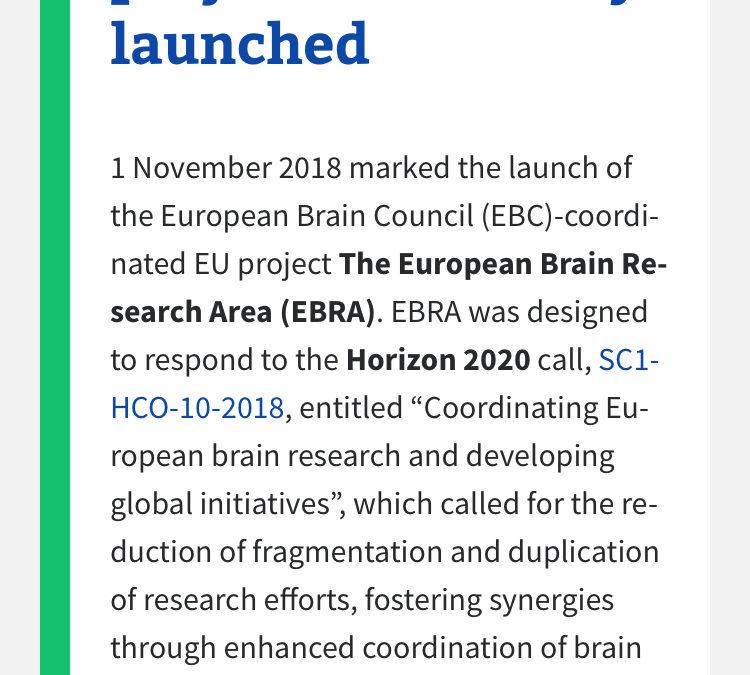 Lanzamiento de EBRA (European Brain Research Area)