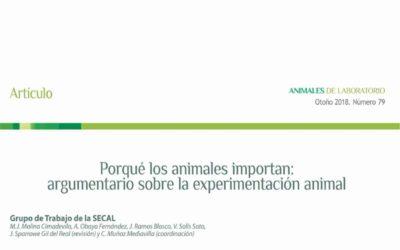 Porqué los animales importan: argumentario sobre la experimentación animal