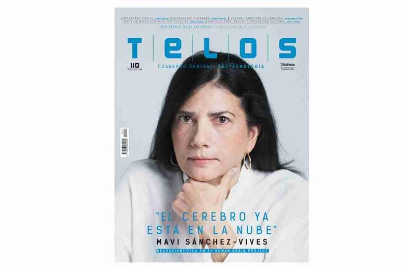 Mavi Sánchez-Vives portada de la revista TELOS de la Fundación Telefónica