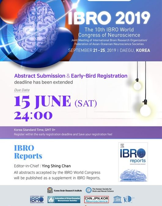 IBRO 2019. Abstract & Early Bird Registration