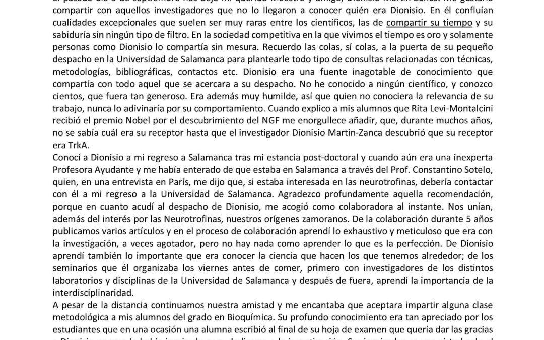 Despedida de Dionisio Martín-Zanca
